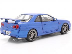 Nissan Skyline GT-R (R34) year 1999 bayside blue