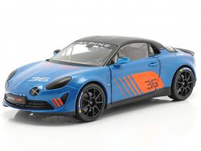 Alpine A110 Cup #36 Launch Livery 2019 blue / orange / black 1:18 Solido