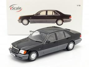 Mercedes-Benz S500 (W140) year 1994-98 black 1:18 iScale
