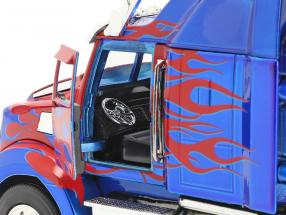 Western Star 5700 XE Optimus Prime Transformers (2007) red / blue  Jada Toys