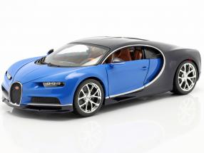 Bugatti Chiron Year 2016 blue / dark blue 1:18 Bburago
