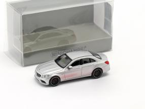 Mercedes-Benz AMG C63 year 2019 silver 1:87 Minichamps