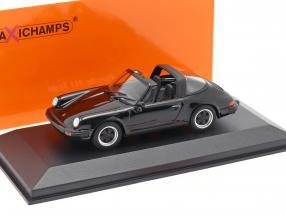 Porsche 911 Targa year 1977 black 1:43 Minichamps