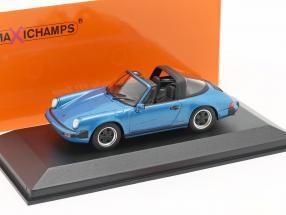 Porsche 911 Targa year 1977 blue metallic 1:43 Minichamps
