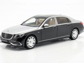 Mercedes-Benz Maybach S-class year 2019 black / silver 1:18 Almost Real