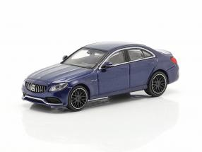 Mercedes-Benz AMG C63 year 2019 dark blue metallic 1:87 Minichamps