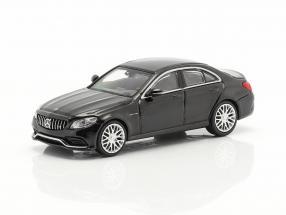 Mercedes-Benz AMG C63 year 2019 black metallic 1:87 Minichamps