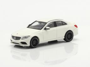 Mercedes-Benz AMG C63 year 2019 white 1:87 Minichamps
