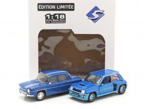 2-Car Set Renault R5 Turbo & Renault R8 Gordini blue 1:18 Solido
