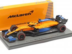 Lando Norris McLaren MCL35 #4 Barcelona test formula 1 2020 1:43 Spark