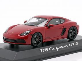 Porsche 718 Cayman GTS 4.0 carmine red / black 1:43 Minichamps