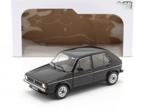 Volkswagen VW Golf L year 1983 black 1:18 Solido