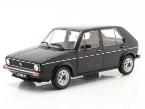 Volkswagen VW Golf L year 1983 black 1:18 Solido