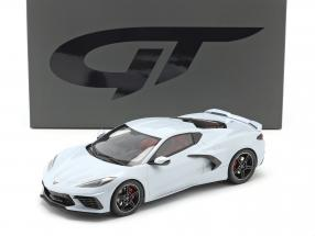 Chevrolet Corvette C8 year 2020 ceramic grey metallic 1:18 GT-Spirit