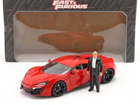 Dom's Lykan Hypersport 2014 Fast & Furious 7 (2015) with figure 1:18 Jada Toys
