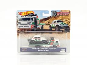 Set Team Transport: Volkswagen VW Baja Bug & Wide Open 1:64 HotWheels