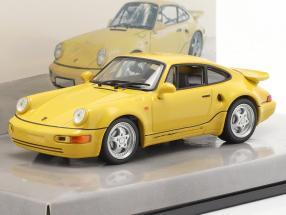 Porsche 911 Turbo S 3.3 (964) Lightweight Year 1992 yellow 1:43 Minichamps