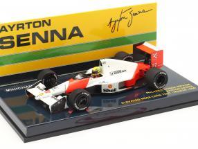 A. Senna McLaren MP4/5B #27 High Nose Test F1 World Champion 1990 1:43 Minichamps