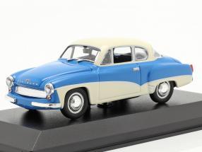 Wartburg 311 Coupe year 1958 blue / white 1:43 MInichamps