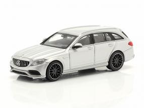 Mercedes-Benz AMG C63 year 2019 silver metallic 1:87 Minichamps