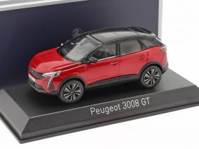 Peugeot 3008 GT year 2020 red / black 1:43 Norev
