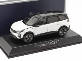 Peugeot 5008 GT year 2020 pearl white / black 1:43 Norev