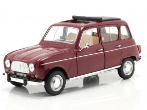 Renault 4L year 1966 dark red 1:18 Norev