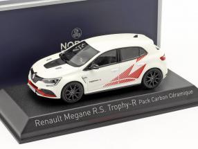 Renault Megane R.S. Trophy-R Pack carbon céramique year 2019 white / red 1:43 Norev