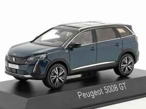 Peugeot 5008 GT year 2020 celebes blue metallic 1:43 Norev