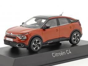Citroen C4 year 2020 orange 1:43 Norev