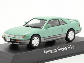 Nissan Silvia S13 year 1988 light green metallic / grey 1:43 Norev