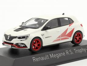 Ranault Megane R.S. Trophy R year 2019 white / red 1:43 Norev