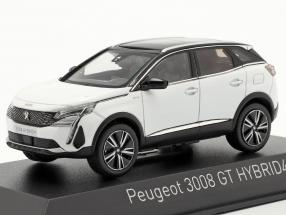 Peugeot 3008 GT Hybrid4 year 2020 pearl white 1:43 Norev