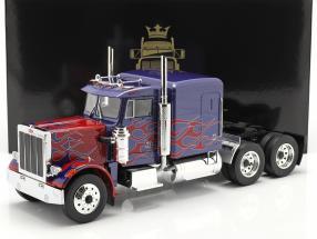 Peterbilt 359 Bull Nose Truck 1967 blue / red 1:18 Road Kings