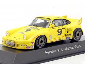 Porsche 934 #9 Winner 12h Sebring 1983 Baker,Mullen,Nierop 1:43 Spark