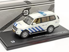 Mitsubishi Pajero Politie Amsterdam 2013 white / blue 1:43 Triple 9