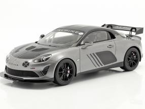 Alpine A110 GT4 Goodwood 2018 silver metallic / black 1:18 Spark