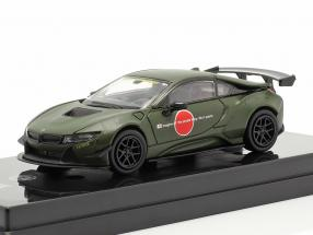 BMW i8 Zero Liberty Walk year 2018 mat dark green 1:64 Paragon Models