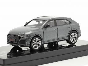 Audi RS Q8 year 2018 daytona grey metallic 1:64 Paragon Models