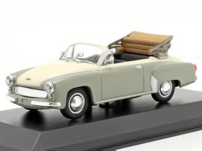 Wartburg 311 Cabriolet year 1958 grey / white 1:43 Minichamps