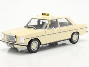 Mercedes-Benz 200-250 E (W114/115) taxi year 1968 light ivory 1:18 Norev