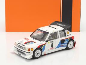 Peugeot 205 T16 E2 #4 5th Rallye Monte Carlo 1986 Kankkunen, Piironen 1:18 Ixo