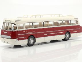 Ikarus 66 bus year 1972 white / dark red 1:43 Ixo