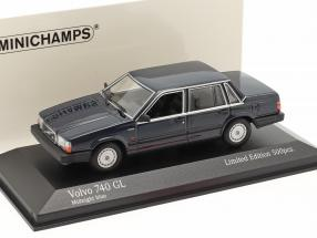 Volvo 740 GL year 1986 midnight blue 1:43 Minichamps