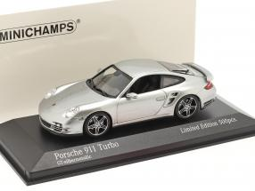Porsche 911 (997) Turbo year 2006 GT silver metallic 1:43 Minichamps