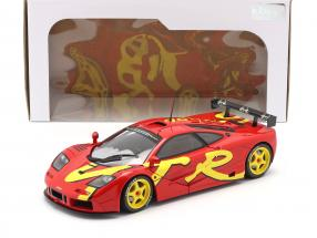 McLaren F1 GTR year 1996 red / yellow 1:18 Solido
