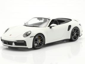 Porsche 911 (992) Turbo S Cabriolet year 2020 White 1:18 Minichamps