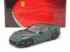 Ferrari F12 TDF year 2015 opaco green 1:18 BBR