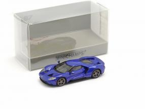 Ford GT year 2018 blue metallic 1:87 Minichamps