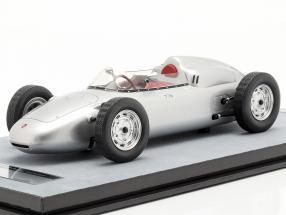 Porsche 718 F2 Press version 1960 silver 1:18 Tecnomodel